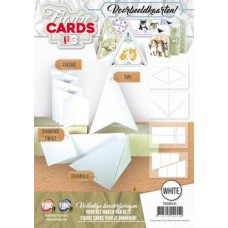 Fold Up Figure Card 3 White + 2 Pages of Decopage