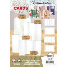 Fold Up Figure Cards 4 White + 2 Pages of Decopage