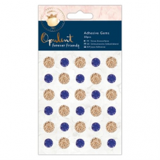 Forever Friends Adhesive Gems (30pcs) - Opulent - Navy & Copper