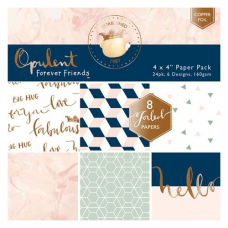 "Forever Friends August 2016  - 4 x 4"" Paper Pack - Opulent"