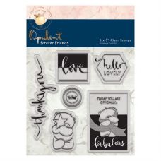 "Forever Friends August 2016 - 5 x 5"" Clear Stamp Set - Opulent"
