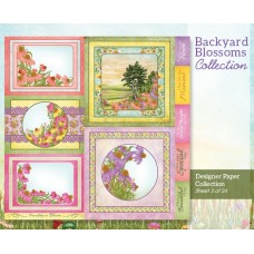 Heartfelt Creations Backyard Blossoms Paper Pad (PRE ORDER NOW SHIPPING 9TH MAY 2018)