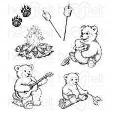 Heartfelt Creations Beary Fun Retreat Cling Stamp Set