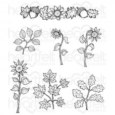 Heartfelt Creations Beary Fun Retreat Sunflower Accents Cling Stamp Set HCPC-3799