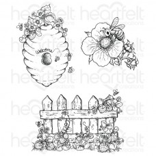 Heartfelt Creations Sweet as Honey Cling Stamp Set HCPC-3735