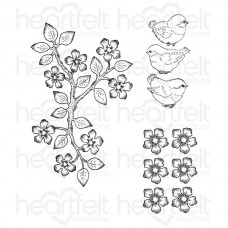 Heartfelt Creations Birds and Blooms Cling Stamp Set