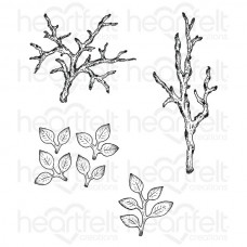 Heartfelt Creations Leafy Branch Cling Stamp Set