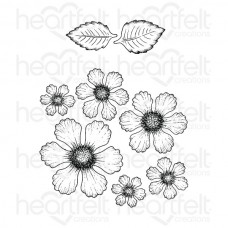 Heartfelt Creations Botanical Rose Cling Stamp Set