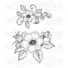 Heartfelt Creations Botanical Rose Bouquet Cling Stamp Set HCPC-3653