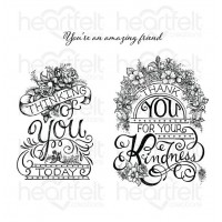 Heartfelt Creations Elegant Gateway Sentiments Cling Stamp Set