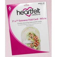 "Heartfelt Creations Fold Out Cards 5"" x 7"" Gateway - 6x White"