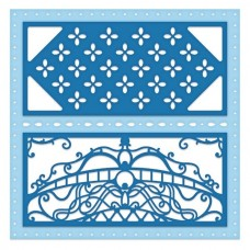 Heartfelt Creations Decorative Royale Square & Circle - Eyelet Royale Die