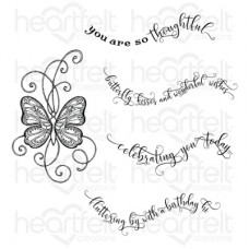 Heartfelt Creations Butterfly Kisses Cling Stamp Set