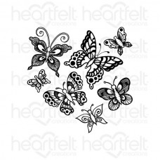 Heartfelt Creations Butterfly Medley Cling Stamp Set