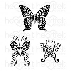 Heartfelt Creations Botanical Wings Cling Stamp Set