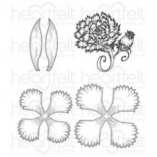 Heartfelt Creations Large Camelia Carnation Cling Stamp Set HCPC-3807
