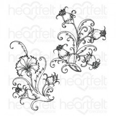 Heartfelt Creations Camelia Carnation - Fanciful Carnation Cling Stamp Set HCPC-3808
