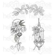 Heartfelt Creations Candlelit Collection Glow of Christmas Cling Stamp Set