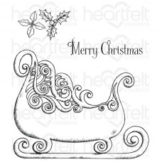 Heartfelt Creations celebrate The Season Ornate Sleigh Cling Stamp Set