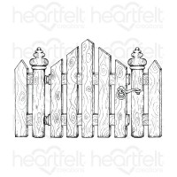 Heartfelt Creations Festive Gate Cling Stamp Set