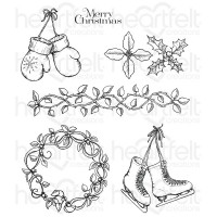 Heartfelt Creations Celebrate the Season Cling Stamp Set