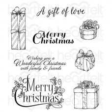 Heartfelt Creations Gift Wrapped Presents Cling Stamp Set