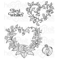 Heartfelt Creations Classic Wedding Roses Cling Stamp Set