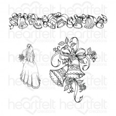 Heartfelt Creations Classic Wedding Bells Cling Stamp Set