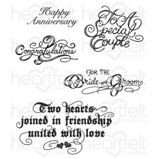 Heartfelt Creations Classic Wedding Wishes Cling Stamp Set