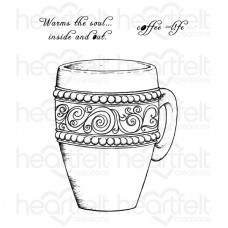 Heartfelt Creations Coffee Mug Cling Stamp Set HCPC-3708