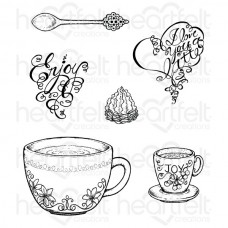 Heartfelt Creations Coffee Talk Cling Stamp Set HCPC-3709