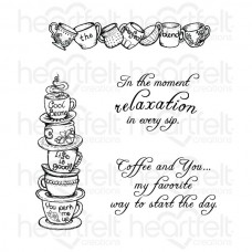Heartfelt Creations All Stacked Up Cling Stamp Set HCPC-3710