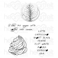 Heartfelt Creations Latte Art Cling Stamp Set HCPC-3711