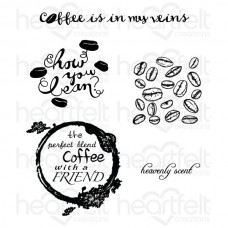 Heartfelt Creations The Perfect Blend Cling Stamp Set HCPC-3712