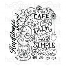 Heartfelt Creations Coffee Talk Background Cling Stamp Set HCPC-3713