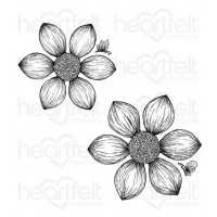 Heartfelt Creations Dazzling Dahlia Collection Dazzling Dahlia Cling Stamp Set