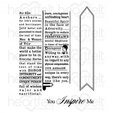 Heartfelt Creations Everyday Hero Newsprint Cling Stamp Set HCPC-3665