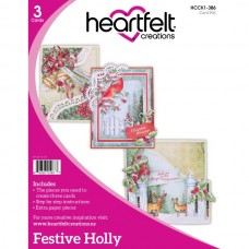 Heartfelt Creations Festive Holly Card Kit