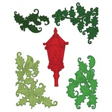 Heartfelt Creations Festive Holly & Cardinals Die HCD1-7145