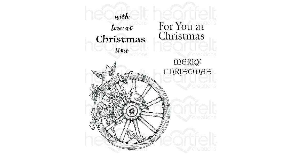 Heartfelt Creations Festive Holiday Cling Stamp Set