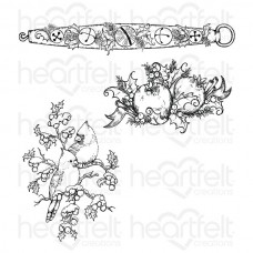 Heartfelt Creations Festive Holly - Holly Berry Jingle Cling Stamp Set