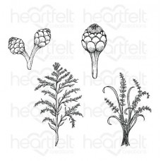 Heartfelt Creations Floral Shoppe Collection - Floral Shoppe Fillers Cling Stamp Set