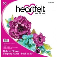 Heartfelt Creations Deluxe Flower Shaping Paper Pack of 50 - White