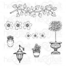 Heartfelt Creations French Cottage Collection French Cottage 'scapes Cling Stamp Set