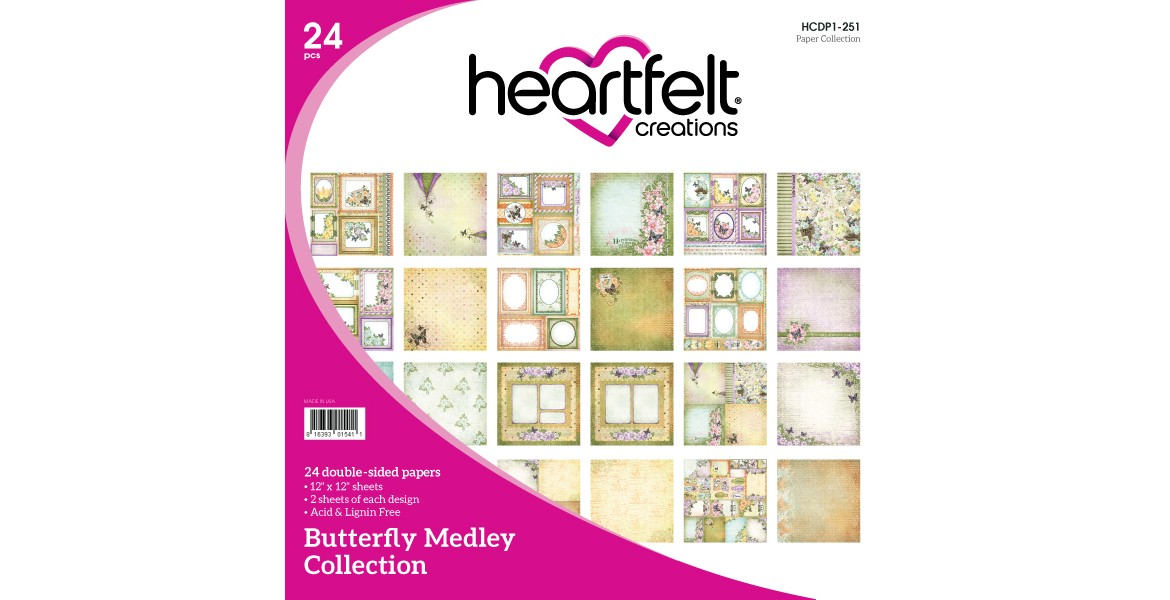 Heartfelt creations Butterfly Medley Paper Collection