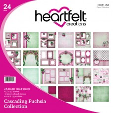Heartfelt Creations Cascading Fuchsia Paper Collection