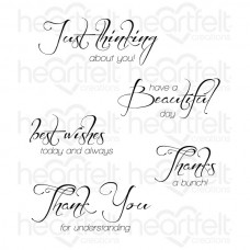 Heartfelt Creations Heartfelt Expressions Cling Stamp Set