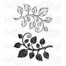 Heartfelt Creations Classic Leaf Cling Stamp Set