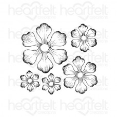 Heartfelt Creations Arianna Blooms Cling Stamp Set HCPC-3608