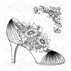Heartfelt Creations All Glammed Up Shoe Cling Stamp Set